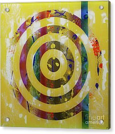 Party- Bullseye 2 Acrylic Print by Mordecai Colodner