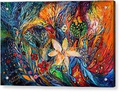 Passion For The Ultramarine Acrylic Print by Elena Kotliarker