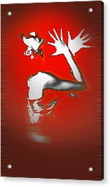 Passion In Red Acrylic Print by Naxart Studio
