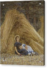 Past Work Acrylic Print by Helen Allingham
