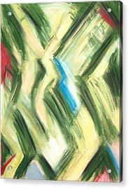 Pastel Green Shrubs And Bushes Acrylic Print by Kazuya Akimoto