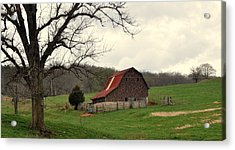 Pasture And Bar  Acrylic Print by Marty Koch