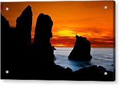 Patrick's Point Silhouette Acrylic Print by Greg Nyquist