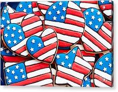 Patriotic Cookies Acrylic Print by Ruth Black