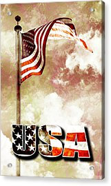 Patriotism The American Way Acrylic Print by Phill Petrovic