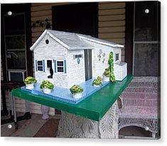 Pat's Cottage Birdhouse Acrylic Print by Gordon Wendling