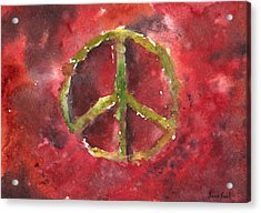Peace Sign 61-12 Acrylic Print by Sean Seal