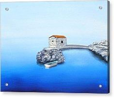 Peaceful Adriatic  Acrylic Print by Larry Cirigliano