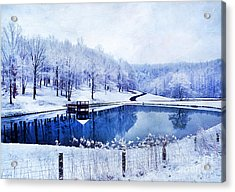 Peaceful Winters Day Acrylic Print by Darren Fisher