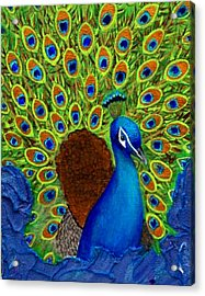Peacock's Delight Acrylic Print by The Art With A Heart By Charlotte Phillips