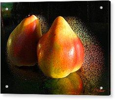 Pear Aura Acrylic Print by Michael Durst