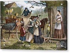 Peddlers Wagon, 1868 Acrylic Print by Granger
