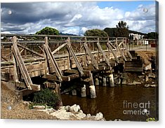 Pedestrian Bridge At Point Isabel In Richmond California . 7d15083 Acrylic Print by Wingsdomain Art and Photography
