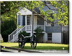 Peers House And Cannon Appomattox Court House Virginia Acrylic Print by Teresa Mucha
