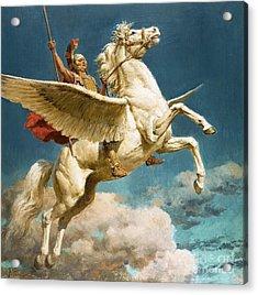 Pegasus The Winged Horse Acrylic Print by Fortunino Matania