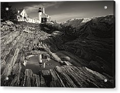 Pemaquid Point Reflection Acrylic Print by George Oze