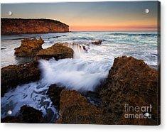 Pennington Pastel Sunset Acrylic Print by Mike  Dawson