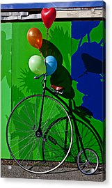 Penny Farthing And Balloons Acrylic Print by Garry Gay