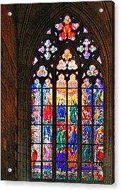 Pentecost Window - St. Vitus Cathedral Prague Acrylic Print by Christine Till