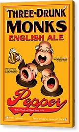 Pepper Three Drunk Monks Acrylic Print by John OBrien