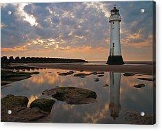 Perch Rock Lighthouse Acrylic Print by Wayne Molyneux