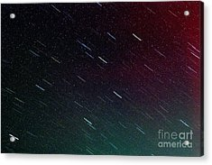 Perseid Meteor Shower Acrylic Print by Thomas R Fletcher