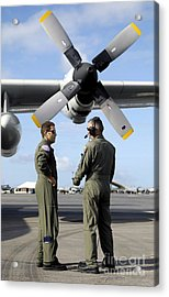 Personnel Conduct A Pre-flight Briefing Acrylic Print by Stocktrek Images