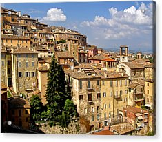 Perugia Italy - 01 Acrylic Print by Gregory Dyer