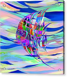Pescado Aqui Acrylic Print by Wally Boggus