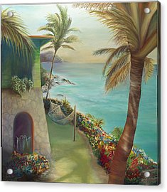 Peter Island Escape Acrylic Print by Lisa Kruse