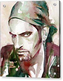Peter Steele Portrait.6 Acrylic Print by Fabrizio Cassetta