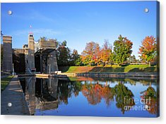 Peterborough Lift Lock National Historic Site Acrylic Print by Charline Xia