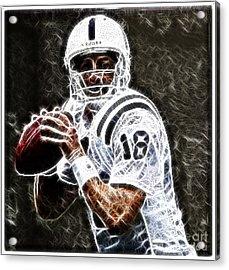 Peyton Manning 18 Acrylic Print by Paul Ward