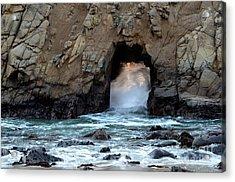 Pfeiffer Rock Big Sur 2 Acrylic Print by Bob Christopher