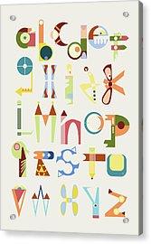 Phantasy Alphabet Acrylic Print by Elke Vogelsang