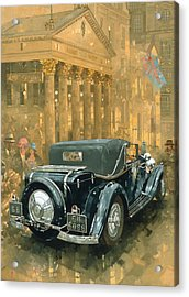 Phantom In The Haymarket  Acrylic Print by Peter Miller