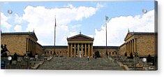 Philadelphia Museum Of The Arts Acrylic Print by Rick Thiemke