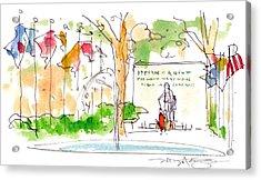 Philadelphia Park Acrylic Print by Marilyn MacGregor