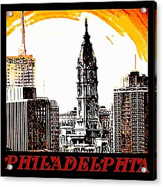 Philadelphia Poster Acrylic Print by Bill Cannon