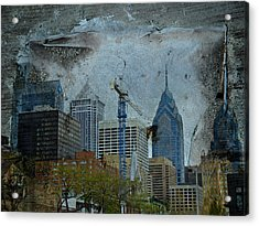 Philadelphia Skyline Acrylic Print by Mother Nature