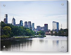 Philadelphia View From The Girard Avenue Bridge Acrylic Print by Bill Cannon