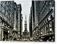 Philly - Broad Street Acrylic Print by Bill Cannon