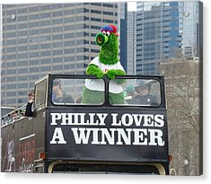 Philly Loves A Winner Acrylic Print by Alice Gipson