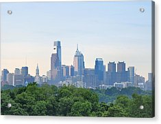 Philly Skyline Acrylic Print by Bill Cannon