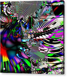 Phoenix Rising . Square . S3.s9 Acrylic Print by Wingsdomain Art and Photography