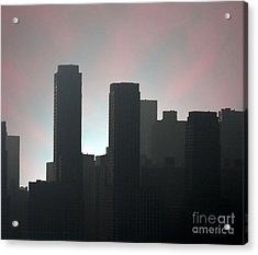 Photograph Of Manhattan In The Morning  Acrylic Print by Mario Perez