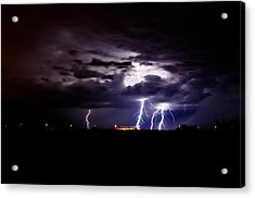 Phx Night Lightning 6 Acrylic Print by Kenny Jalet