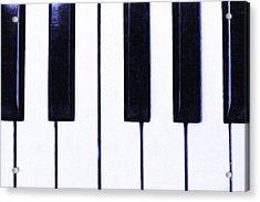 Piano Keys Acrylic Print by Wingsdomain Art and Photography