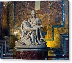 Pieta By Michelangelo Circa 1499 Ad Acrylic Print by Jon Berghoff