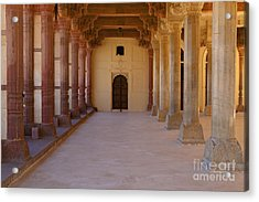 Pillars In Amber Fort Acrylic Print by Inti St. Clair
